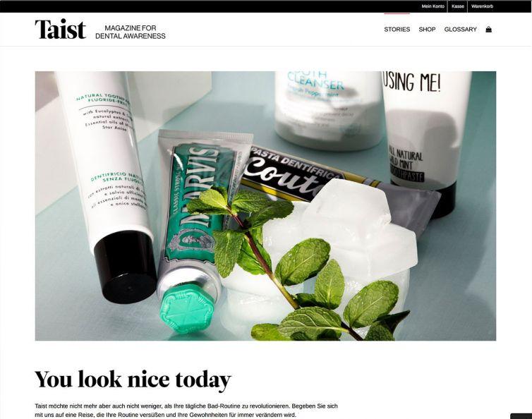 Taist – ecommerce website